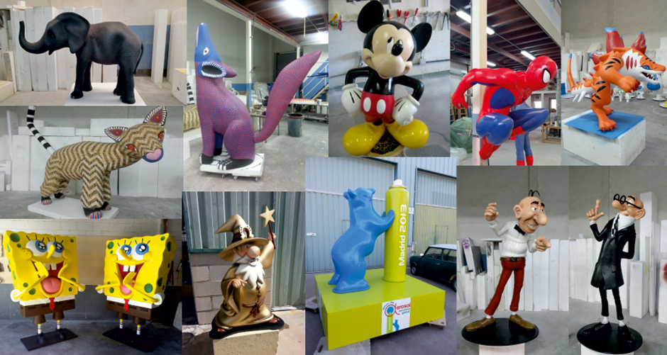 Sculptures and Characters